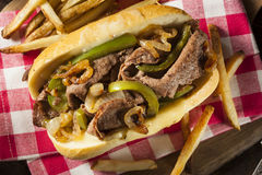 Homemade Philly Cheesesteak Sandwich Stock Image