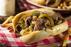 Homemade Philly Cheesesteak Sandwich Royalty Free Stock Image
