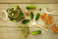 Homemade pickled cucumbers Royalty Free Stock Image