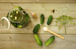 Homemade pickled cucumbers Stock Photo