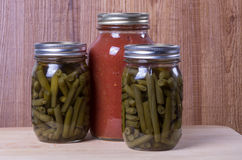 Homemade pickled vegetables tomato sauce Royalty Free Stock Images