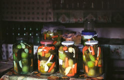 Homemade pickles Stock Image