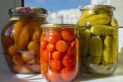 Free Homemade Pickles In Jar Royalty Free Stock Photo - 82106375