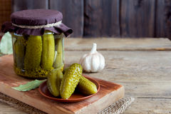 Homemade pickles Stock Images