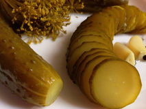 Homemade pickles. Pickles made at home Royalty Free Stock Images