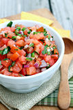 Homemade Pico de Gallo Royalty Free Stock Photo