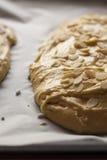 Homemade pie with almond Royalty Free Stock Photos