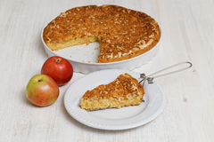Homemade Pie with Apple and Lemon. Shallow focus. Royalty Free Stock Images