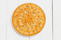 Homemade pie with apples and pears Royalty Free Stock Photo