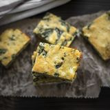 Homemade pie with cheese and spinach Royalty Free Stock Images