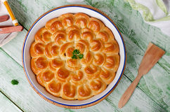 Homemade pie with meat Royalty Free Stock Image