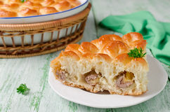 Homemade pie with meat Stock Photography