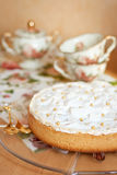 Homemade pie with meringue Royalty Free Stock Images