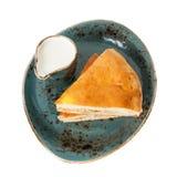 Homemade pie and milk Stock Image