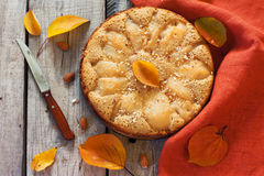 Homemade pie with pears Royalty Free Stock Photos