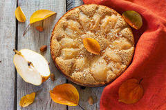 Homemade pie with pears Stock Photography