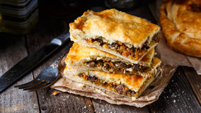Homemade pie stuffed with liver Royalty Free Stock Images