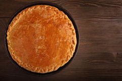 Homemade pie with a stuffing Royalty Free Stock Photo