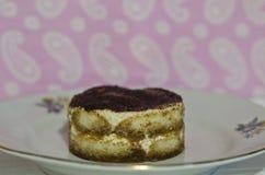 Homemade piece of Tiramisu Royalty Free Stock Images