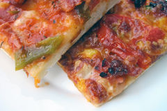 Homemade pieces of pizza Stock Photography