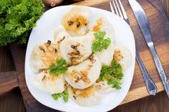Homemade pierogi dumplings Royalty Free Stock Photography