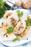 Homemade pierogi dumplings Stock Images
