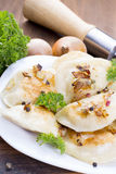 Homemade pierogi dumplings Royalty Free Stock Images