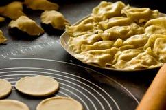 Homemade pierogi Stock Photo
