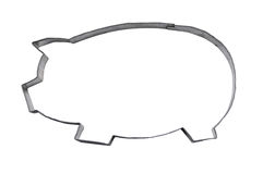 Homemade pig cookie cutter with path Stock Photo