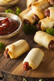 Homemade Pigs in a Blanket Royalty Free Stock Photos