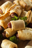Homemade Pigs in a Blanket Royalty Free Stock Photography