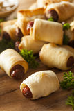 Homemade Pigs in a Blanket Royalty Free Stock Images