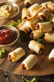 Homemade Pigs in a Blanket. Ready to Eat Royalty Free Stock Images
