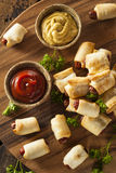Homemade Pigs in a Blanket Stock Photo