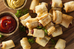 Homemade Pigs in a Blanket. Ready to Eat Royalty Free Stock Image