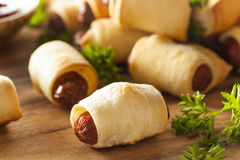 Homemade Pigs in a Blanket Stock Image