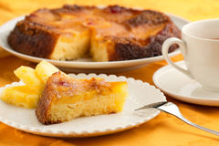 Homemade pineapple cake Royalty Free Stock Image