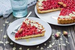 Homemade pink praline tart Stock Photography
