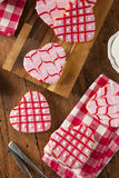 Homemade Pink Valentine's Day Cookies Stock Photography