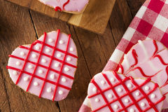 Homemade Pink Valentine's Day Cookies Stock Image