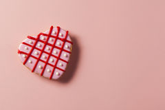 Homemade Pink Valentine's Day Cookies Royalty Free Stock Photography
