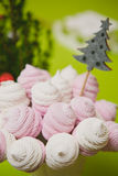 Homemade pink and white marshmallow Royalty Free Stock Photography