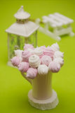 Homemade pink and white marshmallow Royalty Free Stock Photo