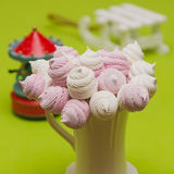 Homemade pink and white marshmallow Royalty Free Stock Images