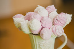 Homemade pink and white marshmallow Royalty Free Stock Image