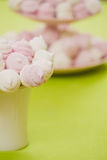 Homemade pink and white marshmallow Stock Photography