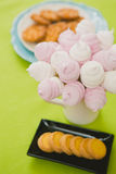 Homemade pink and white marshmallow Stock Photo