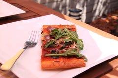 Homemade pizza stock photo