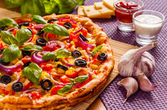 Homemade pizza Royalty Free Stock Photos
