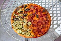 Free Homemade Pizza. A Wonderful Mix Of Flavors And Colors Royalty Free Stock Image - 172991296